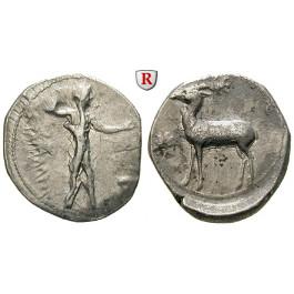 Italien-Bruttium, Kaulonia, Stater 420-410 v.Chr., ss/ss-vz