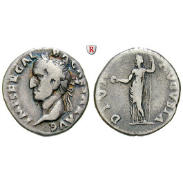 Römische Kaiserzeit, Galba, Denar Juni 68 - Jan. 69, ss