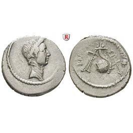 Römische Republik, Caius Iulius Caesar, Denar 42 v.Chr., ss-vz/ss