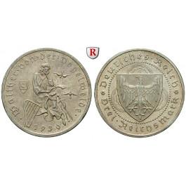 Weimarer Republik, 3 Reichsmark 1930, Vogelweide, G, vz+, J. 344