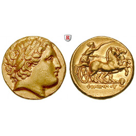 Makedonien, Königreich, Philipp II., Stater 323-317 v.Chr., vz/vz-st