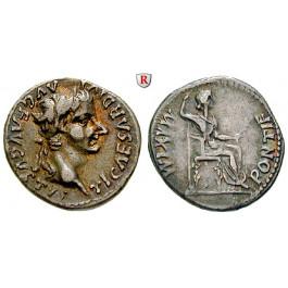 Römische Kaiserzeit, Tiberius, Denar 14-37, vz