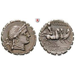 Römische Republik, C.Naevius Balbus, Denar, serratus 79 v.Chr., f.vz