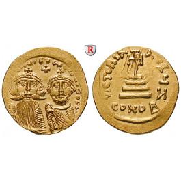 Byzanz, Heraclius und Heraclius Constantinus, Solidus 629-631, vz-st
