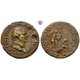 Römische Kaiserzeit, Vespasianus, Sesterz 71, ss