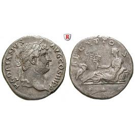 Römische Kaiserzeit, Hadrianus, Denar 134-138, ss-vz/ss