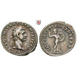 Römische Kaiserzeit, Domitianus, Denar 87, ss-vz