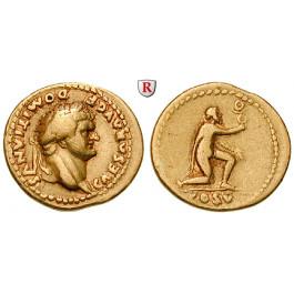 Römische Kaiserzeit, Domitianus, Caesar, Aureus 77-78, ss-vz/ss