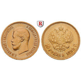 Russland, Nikolaus II., 10 Rubel 1899, 7,74 g fein, ss-vz