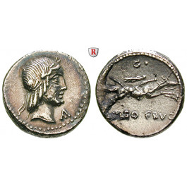 Römische Republik, L. Piso Frugi, Denar 90 v.Chr., ss-vz