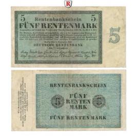 Deutsche Rentenbank 1923-1937, 5 Rentenmark 01.11.1923, III, Rb. 156b