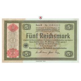 Konversionskasse für Auslandsschulden, 5 Reichsmark 1934, I, Rb. 708a