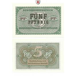 Bundesrepublik Deutschland, Bundeskassenscheine, 5 Pfennig o.D. (1967), I, Rb. 314