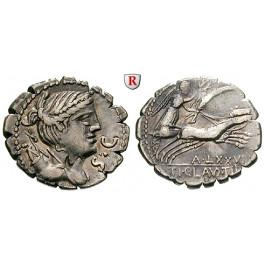 Römische Republik, Ti. Claudius Nero, Denar, serratus 79 v.Chr., ss-vz/ss
