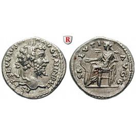 Römische Kaiserzeit, Septimius Severus, Denar 198, f.vz