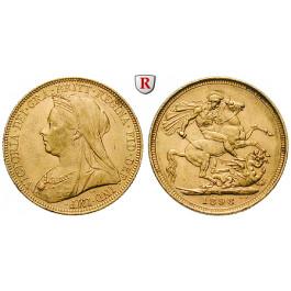 Australien, Victoria, Sovereign 1898, 7,32 g fein, ss-vz