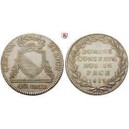 Schweiz, Zürich, 40 Batzen 1813, ss-vz
