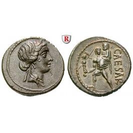 Römische Republik, Caius Iulius Caesar, Denar 48-47 v.Chr., vz+