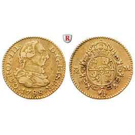 Spanien, Carlos III., 1/2 Escudo 1788, ss