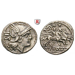 Römische Republik, Anonym, Sesterz 211-208 v.Chr., ss-vz