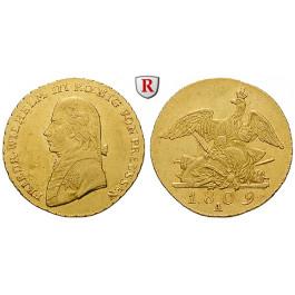 Brandenburg-Preussen, Königreich Preussen, Friedrich Wilhelm III., Friedrichs d`or 1809, ss/ss-vz
