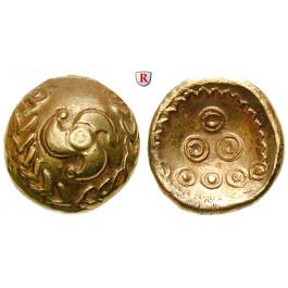 Deutschland, Hessen u. Rheinland, Regenbogenschüsselchen-Stater 1. Jh.v.Chr., vz