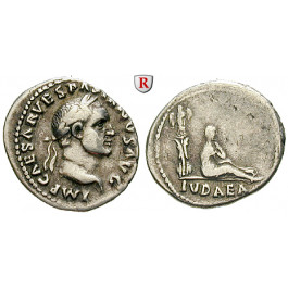 Römische Kaiserzeit, Vespasianus, Denar 69-71, ss+