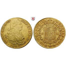 Spanien, Carlos IV., 8 Escudos 1802, ss
