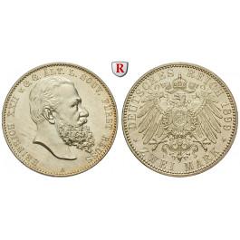 Deutsches Kaiserreich, Reuss-Greiz, Heinrich XXII., 2 Mark 1899, A, vz/vz-st, J. 118