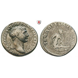Römische Kaiserzeit, Traianus, Denar 103-111, ss
