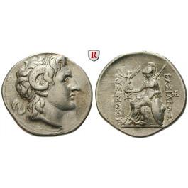 Thrakien, Königreich, Lysimachos, Tetradrachme 297-281 v.Chr., ss+