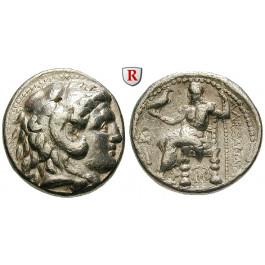 Makedonien, Königreich, Alexander III. der Grosse, Tetradrachme 311-305 v.Chr., ss-vz/ss