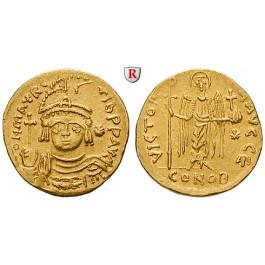 Byzanz, Mauricius Tiberius, Solidus zu 23 Siliquen 583-602, ss+