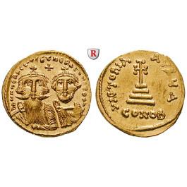 Byzanz, Heraclius und Heraclius Constantinus, Solidus 629-631, vz-st/vz
