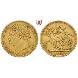 Grossbritannien, George IV., Sovereign 1822, ss