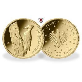 Bundesrepublik Deutschland, 20 Euro 2021, ADFGJ komplett, 19,45 g fein, st