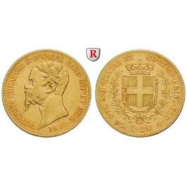 Italien, Königreich Sardinien, Vittorio Emanuele II., 20 Lire 1860, 5,81 g fein, ss