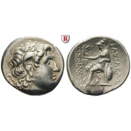 Thrakien, Königreich, Lysimachos, Tetradrachme 323-281 v.Chr., ss-vz