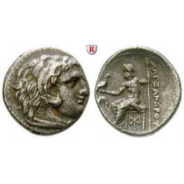 Makedonien, Königreich, Alexander III. der Grosse, Drachme 300-295 v.Chr., ss-vz