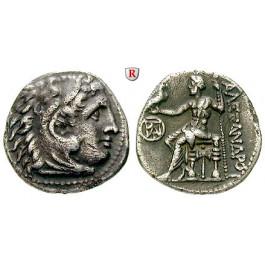 Makedonien, Königreich, Alexander III. der Grosse, Drachme 295-275 v.Chr., ss+