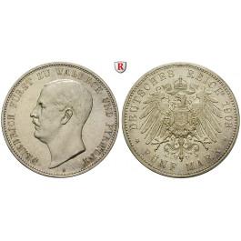 Deutsches Kaiserreich, Waldeck-Pyrmont, Friedrich, 5 Mark 1903, A, vz/f.st, J. 171