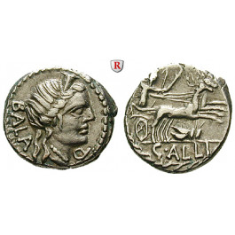 Römische Republik, C. Allius Bala, Denar 92 v.Chr., vz/ss-vz