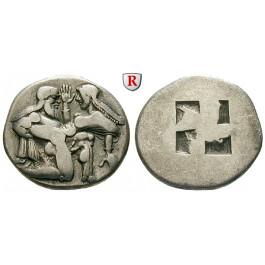 Thrakische Inseln, Thasos, Stater 480-463 v.Chr., ss+