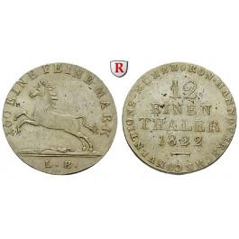 Braunschweig, Königreich Hannover, Georg IV., 1/12 Taler 1824, ss-vz
