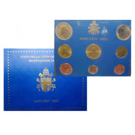 Vatikan, Johannes Paul II., Euro-Kursmünzensatz 2002, st