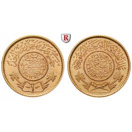 Saudi-Arabien, Pound 1951, 7,32 g fein, f.st