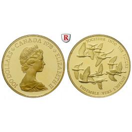 Kanada, Elizabeth II., 100 Dollars 1978, 15,55 g fein, PP