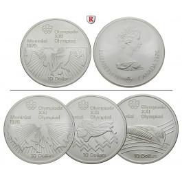 Kanada, Elizabeth II., 10 Dollars 1973-1976, 44,96 g fein, st/PP