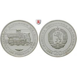 Bulgarien, Republik, 20 Leva 1988, 5,6 g fein, PP