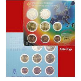 Spanien, Juan Carlos I., Euro-Kursmünzensatz 2000, st